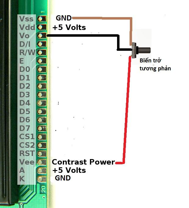 LCD Graphic 128x64 dòng KS0108 VÀ ST7920 - Viết, vẽ và làm